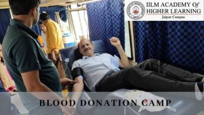 Blood Donation at IILM Jaipur